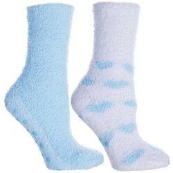 Minx NY Womens 2-pk. Hearts Lavendar Infused Chenille Socks