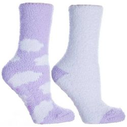 Minx NY Womens 2-pk. Clouds Lavendar Infused Chenille Socks