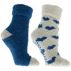 Minx NY Womens 2-pk. Heart Lavender Infused Chenille Socks
