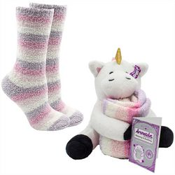 Minx NY Womens 2-pc. Unicorn Cuddly Pet Sock Set