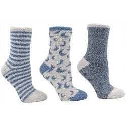 Minx NY Womens 3-pk. Coconut Infused Chenille Socks
