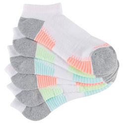 Skechers Womens 6-pk. Breathable Neon Low Cut Active Socks