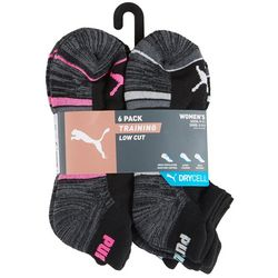 Puma Womens 6-pk. Cushioned Low Cut Training Socks