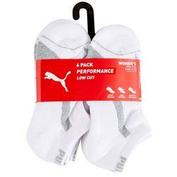 Puma Womens 6-pk. Lieghtweight Performance Low Cut Socks