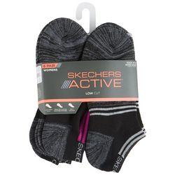 Skechers Womens 6-pk. Heathered Stripe Low Cut Socks