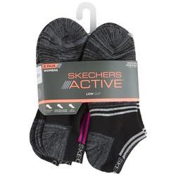 Womens 6-pk. Heathered Stripe Low Cut Socks