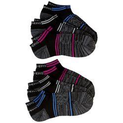 Skechers Womens 6-pk. Terry Colorblock Heather Low Cut Socks