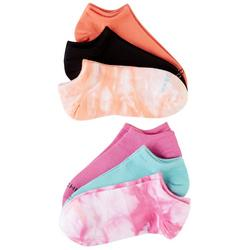 Womens 6-pk. Solid & Tie Dye No Show Socks