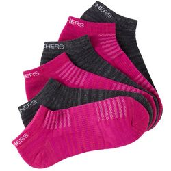 Skechers Womens 6-pk. Active Low Cut Heathered Socks