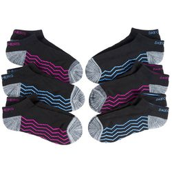 Skechers Womens 6-pk. Colorblock Stripe Active Low Cut Socks