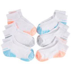 Skechers Womens 6-pk. Terry Quarter Crew Socks