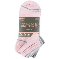 Womens 6-pk. Pastel Heathered Low Cut Socks
