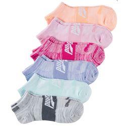 Puma Womens 6-pk. Superlite Rainbow Space Dye Low Cut Socks