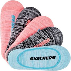 Skechers Womens 5-pk. Neon Heathered Liner Active Socks