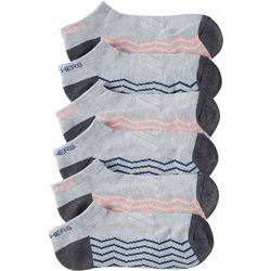 Womens 6-pk. Active Mesh Chevron Low Cut Socks