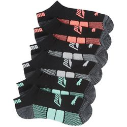Puma Womens 6-pk. Terry Neon Colorblocked Low Cut Socks