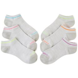 Skechers Womens 6-pk. Neon Accent Terry Active Low Cut Socks