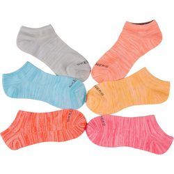 Skechers Womens 6-pk.  Bright Heathered Active Low Cut Socks