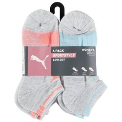 Puma Womens 6-pk. Sportsstyle Heathered Low Cut Socks