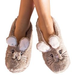 Faceplant Dreams Womens Bunny Footsie Slippers