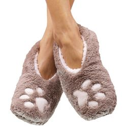 Faceplant Dreams Womens Dog Paws Footsie Slippers