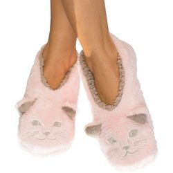 Faceplant Dreams Womens Cat Nap Footsie Slippers