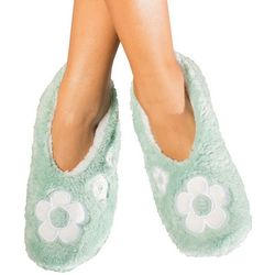 Faceplant Dreams Womens Flower Footsie Slippers