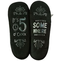 Faceplant Dreams Womens 5 O'Clock Somewhere Footsie Slippers