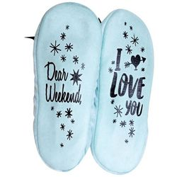 Faceplant Dreams Womens Dear Weekend Footsie Slippers