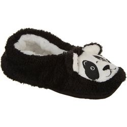 Faceplant Dreams Womens Panda Footsie Slippers