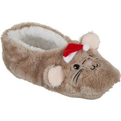 Faceplant Dreams Womens Christmas Mouse Footsie Slippers