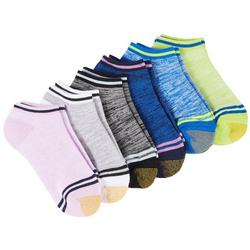 Womens 6-pk. Marled Stripe Cushion Liner Socks