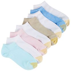 Gold Toe Womens 8-pk. Ribbed Ultra Soft Liner Socks