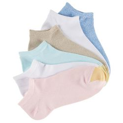 Gold Toe Womens 6-pk. Pastel Ultra Soft Liner Socks