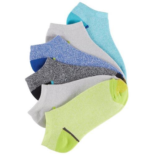 Gold Toe Womens 6 Pk Marled Knit Cushion No Show Socks