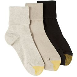 Gold Toe Womens 3-pk. Turned Cuff Socks