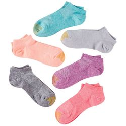 Gold Toe Womens 6-pk. Colored Sport Arch Support Liner Socks