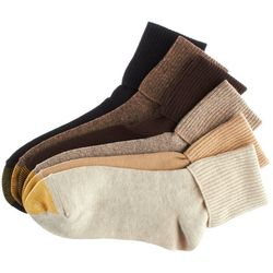 Womens 6-pk. Turn Cuff Socks