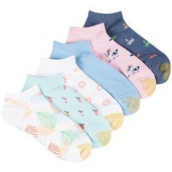 Gold Toe Womens 6-pk. Island Print Rib Low Cut Socks