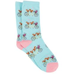 DAVCO Womens Nuts For Biking Crew Socks
