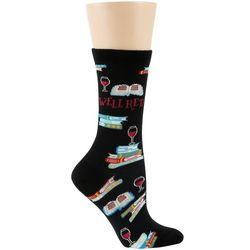 DAVCO Womens Book Club Crew Socks