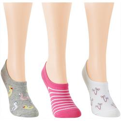 Womens 3-pk. Floaties & Trees Low Cut Socks
