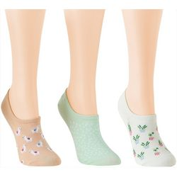 Davco Womens 3-pk. Llamas & Succulents Low Cut