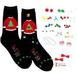 Design Your Own Ugly Holiday Sweater Socks
