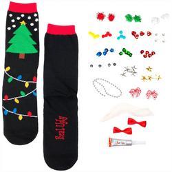 Design Your Own Ugly Christmas Tree Socks