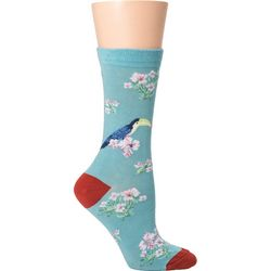 DAVCO Womens Toucan Print Crew Socks