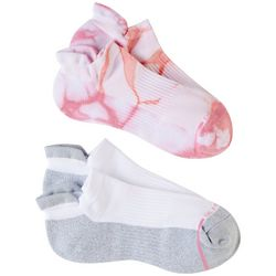 Dr. Motion Womens 2-Pk. Tie Dye Compression Ankle Socks