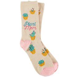 DAVCO Womens Plant Mom Crew Socks