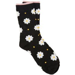 DAVCO Womens Daisy Dasiy Crew Socks