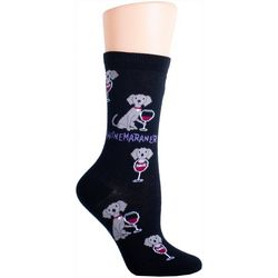DAVCO Womens Winemaraner Crew Socks